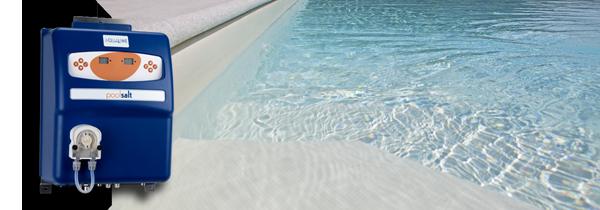 Pulizia della piscina con la sterilizzazione al sale