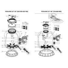 Ricambi per filtro CLEAN laminato Ø 500/650, e PELICAN bobinato Ø 750/900