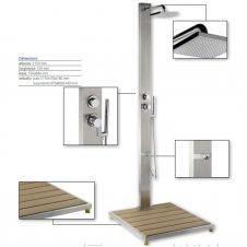 Doccia dal design elegante in acciaio AISI 304 e Wood Plastic Composities