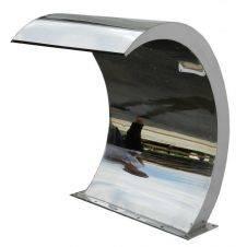Fontana AquaFall Slim (dimensione di 200x800 mm) da installare sul bordo piscina
