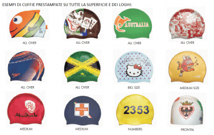 NataRe effettua servizio di personalizzazione cuffie per il nuoto con il  logo della propria società 390661518328