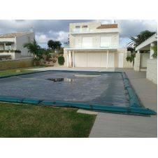 Copertura invernale per piscina rettangolare da 240 gr/mq con tubolari