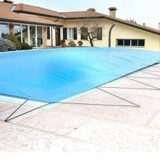 Copertura invernale gonfiabile di sicurezza AirTex per piscine rattangolari in misure standard con occhielli