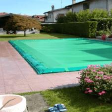 Telo o telone di copertura per la protezione invernale delle piscine interrate con scala romana - 235 gr/mq