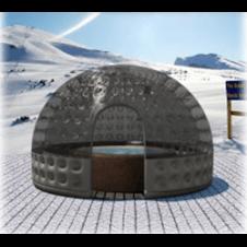 Rifugio termale amovibile, diametro massimo 4,5 mt