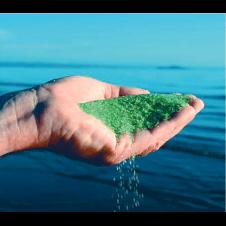 Sabbia di vetro autosterilizzanteper piscine e biolaghi in sacchi da 21 kg equivalenti ai 25 kg della sabbia quarzifera