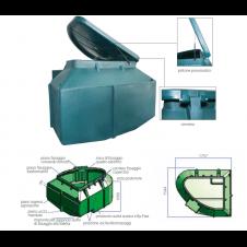 Locale tecnico Rotax per piscine con filtro e pompa