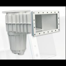 Per filtraggio e ricircolo dell'acqua in piscine in CA, piastrellato o verniciato, PVC e pannelli in metallo