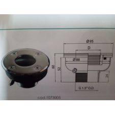 Supporto per pulsante pneumatico in abs con cornice in inox