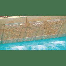 Cascata lama d'acqua per piscina