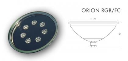 Lampada led per piscine RGB Multicolor mod. Orion