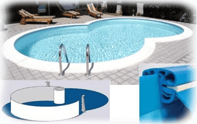 Kit piscina rigida a forma libera