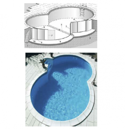 Kit piscina - Piscine interrate rondò
