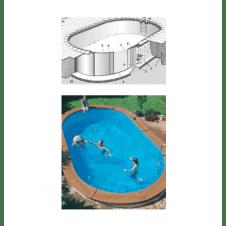 Struttura in acciaio anti corrosione completa di impianto di circolazione/filtrazione