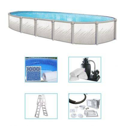 Kit piscina prefabbricata in forma leggermente ovale