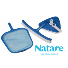 Mini Kit Pulizia Natare con retino di superficie