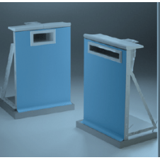 Pannelli per piscina in acciaio zincato plastificati su entrambi i lati.
