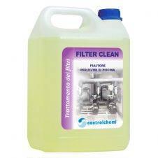 Detergente sgrassante per filtri per piscine