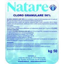 Cloro granulare 56% per la manutenzione delle piscine