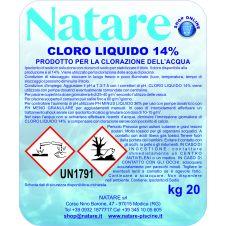 Cloro Liquido Natare - Ipoclorito di sodio liquido al 14% di cloro