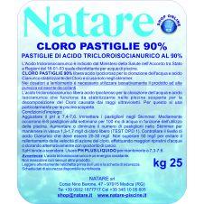 Cloro pastiglie 90/200 da gr 200 per piscine - Natare