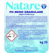 Correttore riduttore pH - (meno) granulare per la manutenzione e per la pulizia delle piscine