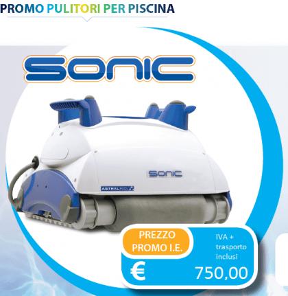 Robot Sonic - fondo e pareti (no linea galleggiamento) sino 12 mt o 80 mc