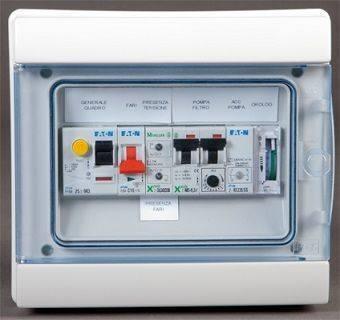 Quadro elettrico monofase per piscina gestisce pompe e fari - Centralina acqua per casa ...