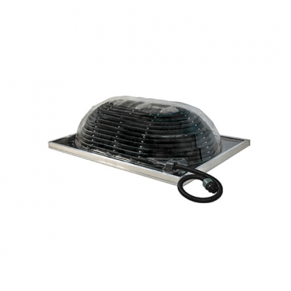 Cupola solare per il riscaldamento della piscina attraverso l'energia solare