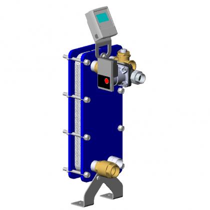 Scambiatore di calore a piastre INOX 316L (piscine al cloro) - Completo di Circolatore e Termostato