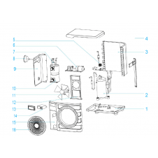 Ricambi per pompa di calore modello Poolex Nano