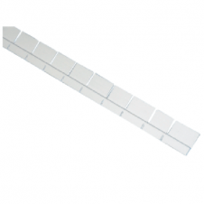 Bordino pretagliato Pool's 1,5 mt. in alluminio anodizzato specifico per aggancio liner/rivestimento in PVC