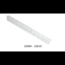 Profilo raggiato con doppia aletta per cemento armato o pannelli