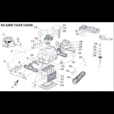Ventola di ricambio per robot pulitore SharkVac/TigerShark
