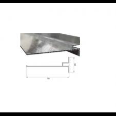 Profilo dritto 9 cm con aletta per cemento armato o pannelli