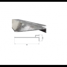 Profilo dritto 9 cm senza aletta per cemento armato o pannelli