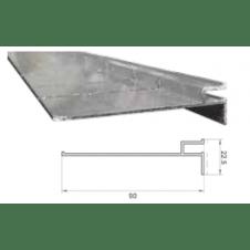 Guida alluminio 100 mm forma libera, barre da 3 m