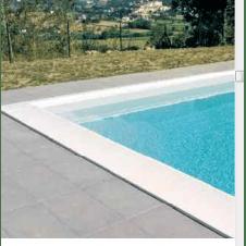 Bordura perimetrale dritta bianca per contorno piscina
