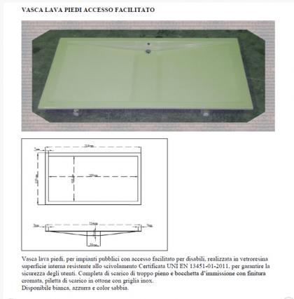 Vasca lavapiedi con accesso per disabili